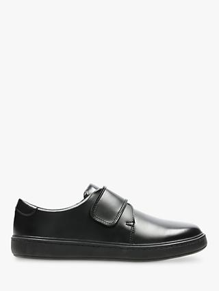 Clarks Children's Street Shine Shoes, Black Leather