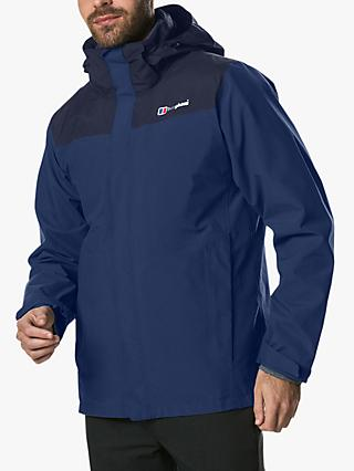 Berghaus Hillwalker Interactive Men's Waterproof Gore-Tex Jacket, Deep Water/Dusk