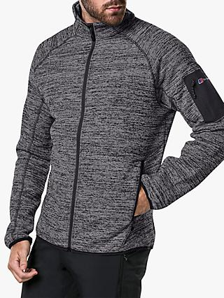 Berghaus Tulach 2.0 Full Zip Men's Fleece, Light Jet Black Marl