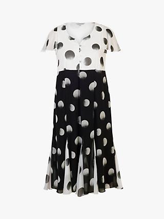 ea722c9b02 Chesca Button Pleat Hem Spot Dress