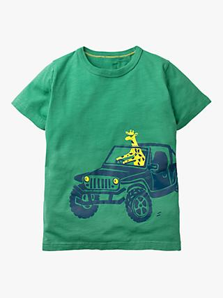 Mini Boden Boys' Vehicle T-Shirt, Greenhouse Green