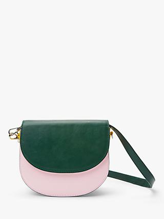 Becksondergaard Maci Leather Cross Body Bag, Green/Pink