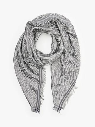 Becksondergaard Millie Zebra Scarf, Light Grey
