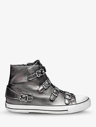 Ash Virgin Hi-Top Leather Trainers, Stone