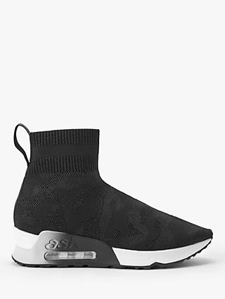 Ash Lulu Flatform Sock Trainers, Black