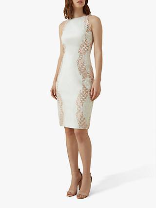 e7374fb8ec83 Karen Millen Snake Effect Sleeveless Shift Dress
