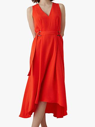 Karen Millen Sleeveless Midi Dress, Red