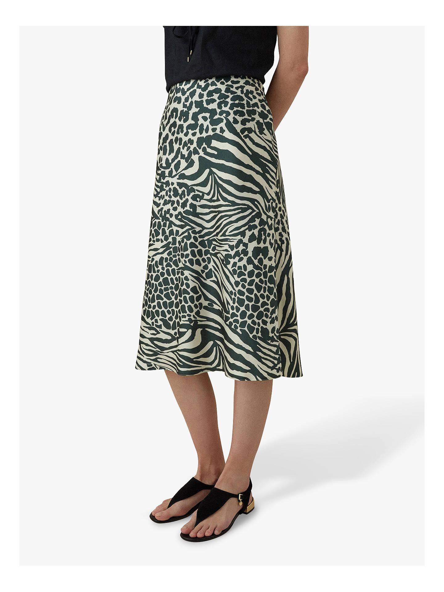7fdd73755d Buy Karen Millen Animal Print Midi Skirt, Green/Multi, 6 Online at  johnlewis ...