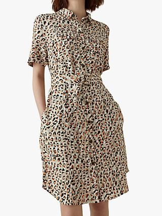Karen Millen Leopard Print Shirt Dress, Multi