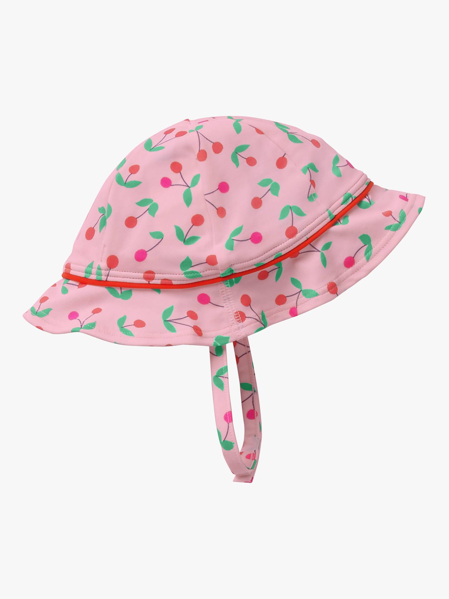 Mini Boden Baby Cherry Swim Hat, Beam Red Cherries at John
