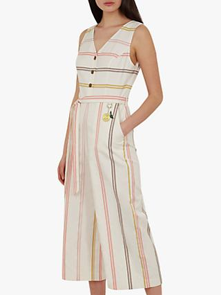 Ted Baker Peruue Stripe Jumpsuit, Ivory