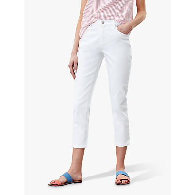 Joules Monroe Cropped Skinny Jeans, Bright White