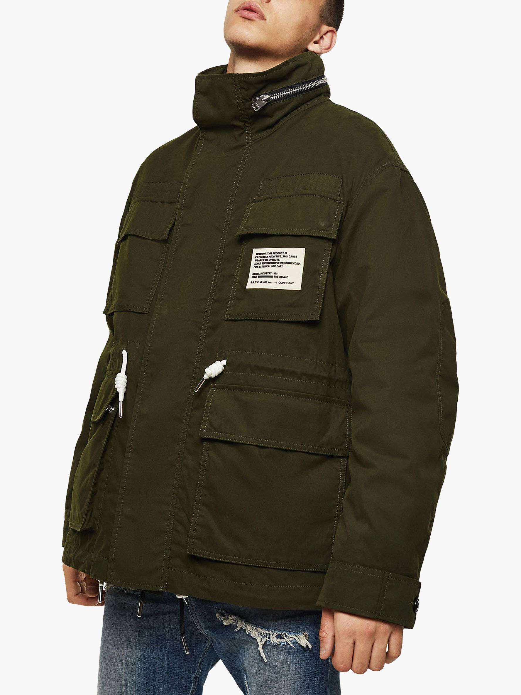 Diesel Diesel J-Touchin Field Jacket, Green