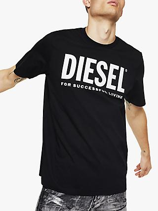 Diesel T-Just Slogan T-Shirt, Black