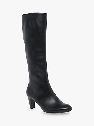 Gabor Maybe Slim Fit Leather Knee High Boots, Black
