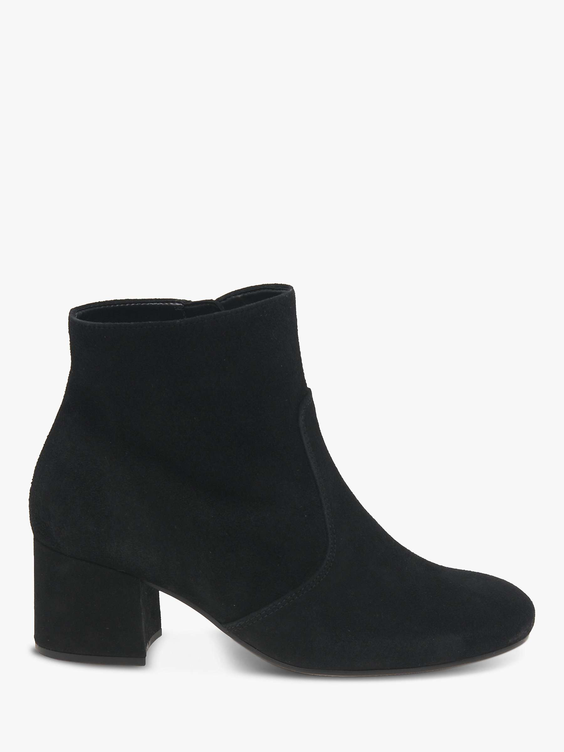 Gabor Cruise Block Heel Suede Ankle Boots, Black by Gabor