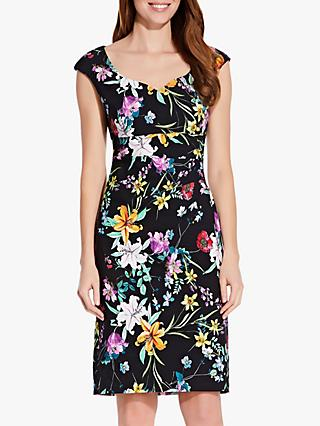 fe48fa8482b5 Adrianna Papell Floral Print Sweetheart Neck Dress, Black/Multi