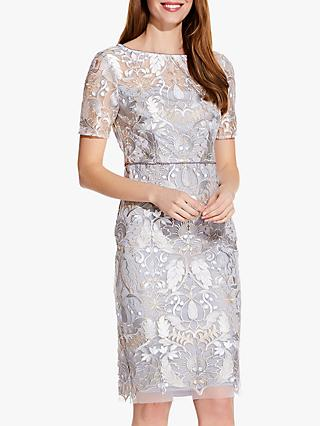 e16cdaae27292 Adrianna Papell Embroidered Pearl Dress, Silver