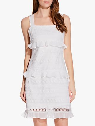 Adrianna Papell Lace Mini Dress, Ivory
