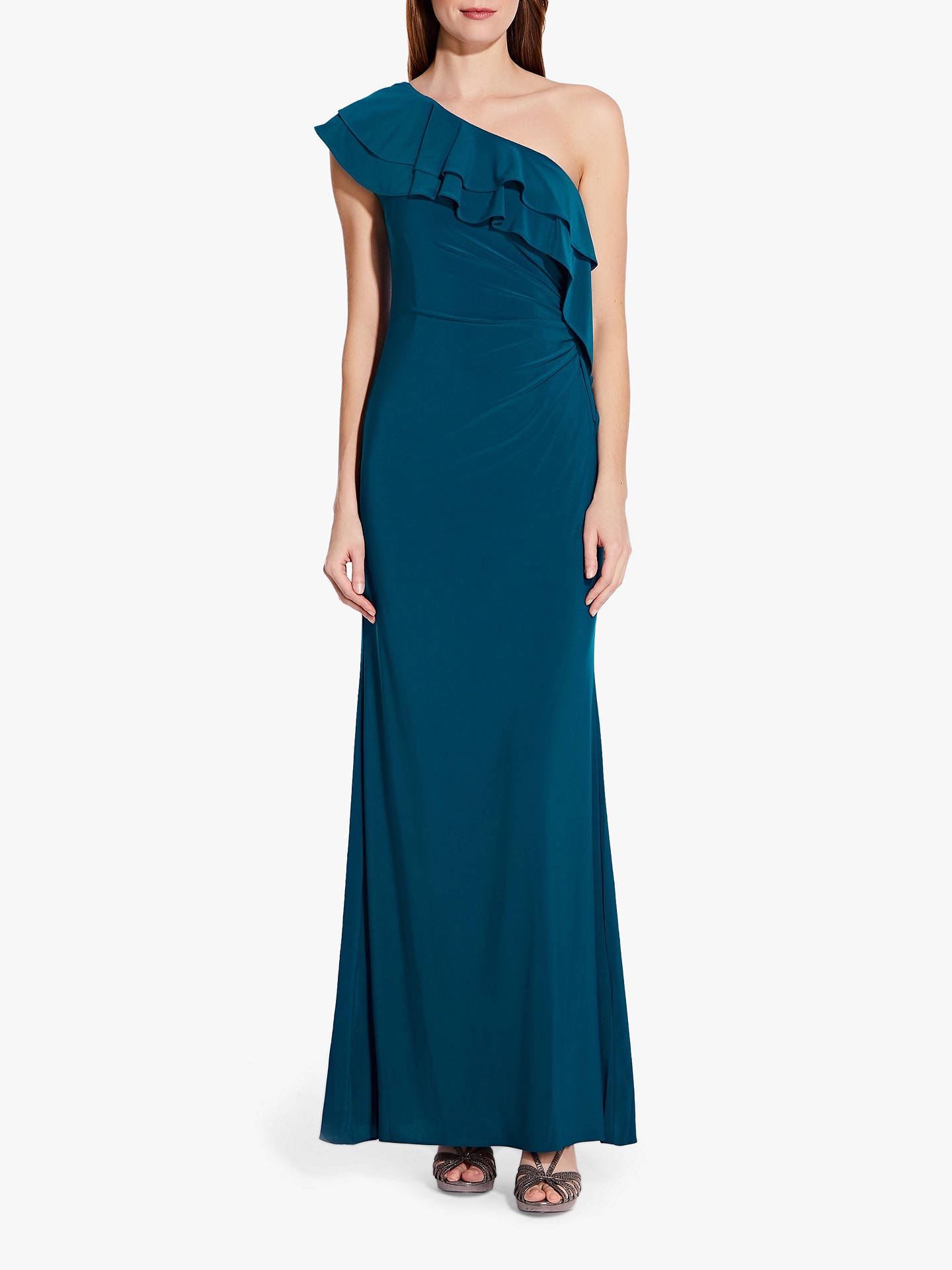 d8036db7e7aa Buy Adrianna Papell Ruffle Jersey Dress, Teal Crush, 8 Online at  johnlewis.com ...