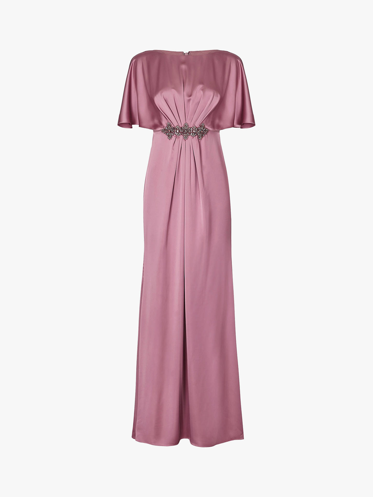 Buy Adrianna Papell Draped Cape Dress, Rose, 14 Online at johnlewis.com