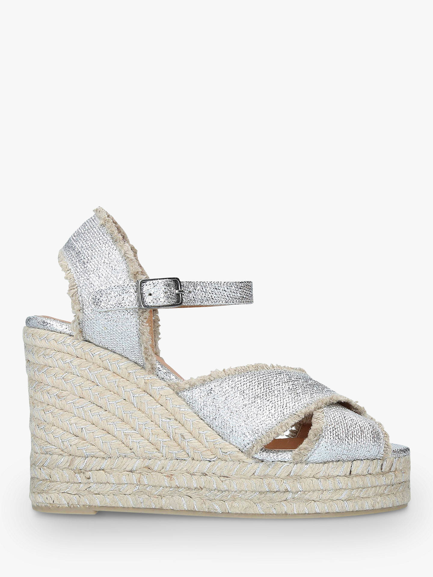 f8730b7a489 Castañer Bromelia Woven Wedge Sandals, Silver