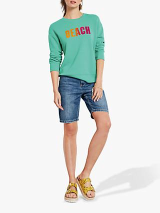 9b2a4f86aa hush Beach Ombre Sweat Top, Green