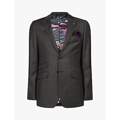 Ted Baker Bevlee Birdseye Wool Suit Jacket, Charcoal