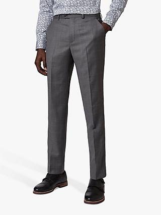 Ted Baker Board Check Trousers, Grey