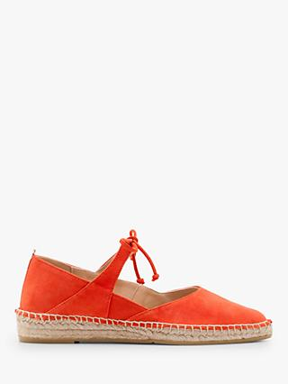 Boden Claire Suede Flat Espadrilles, Red Pop