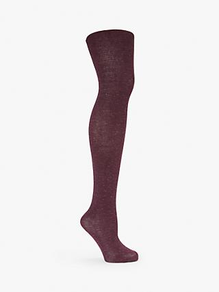 John Lewis & Partners Semi Sparkle Opaque Tights