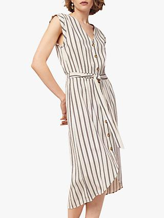 1888b5ad2e5b4b Oasis Stripe Midi Button Dress