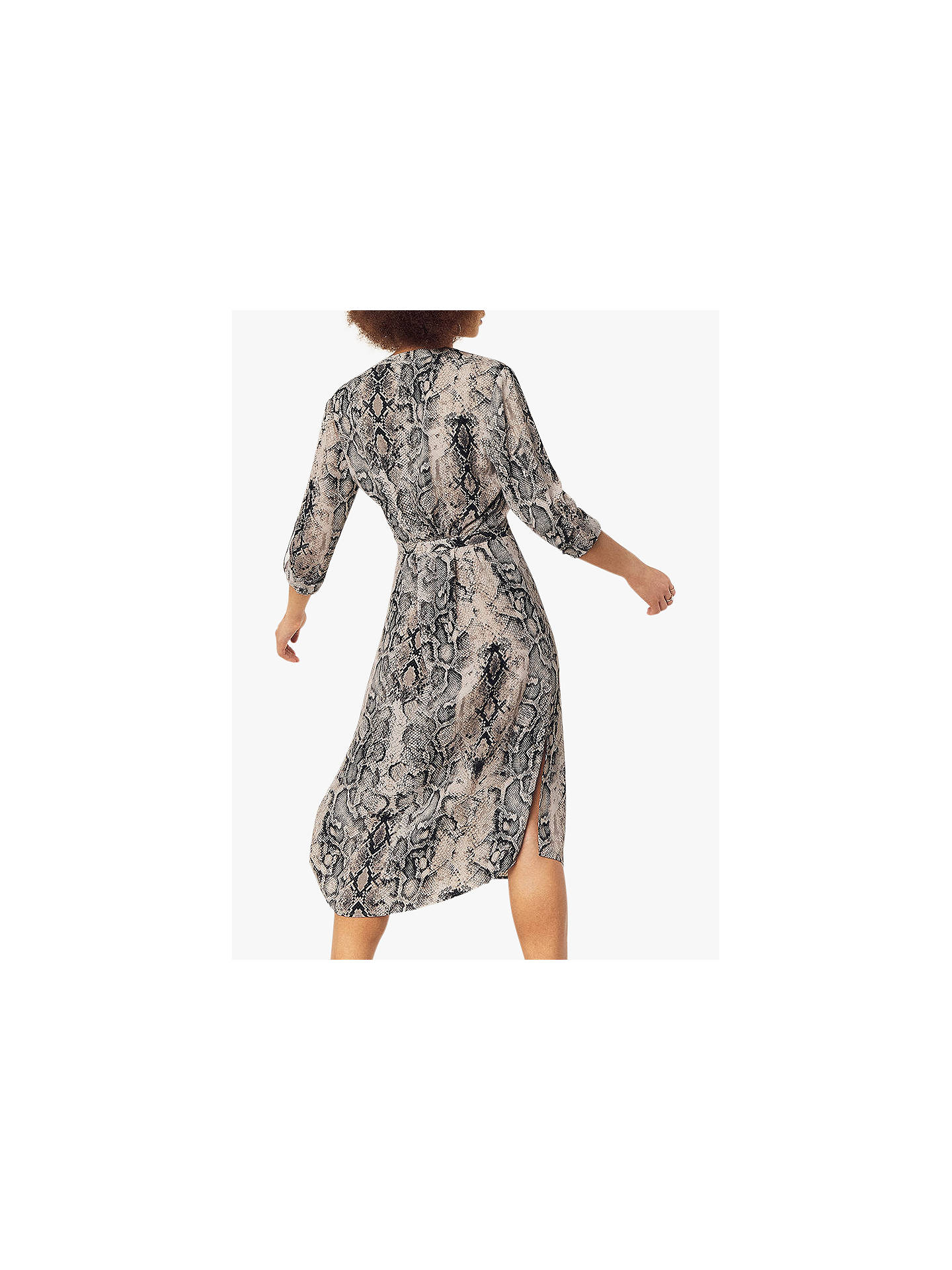 8d3cc1c0a8d9 ... Buy Oasis Snake Print Shirt Dress, Brown, 6R Online at johnlewis.com ...