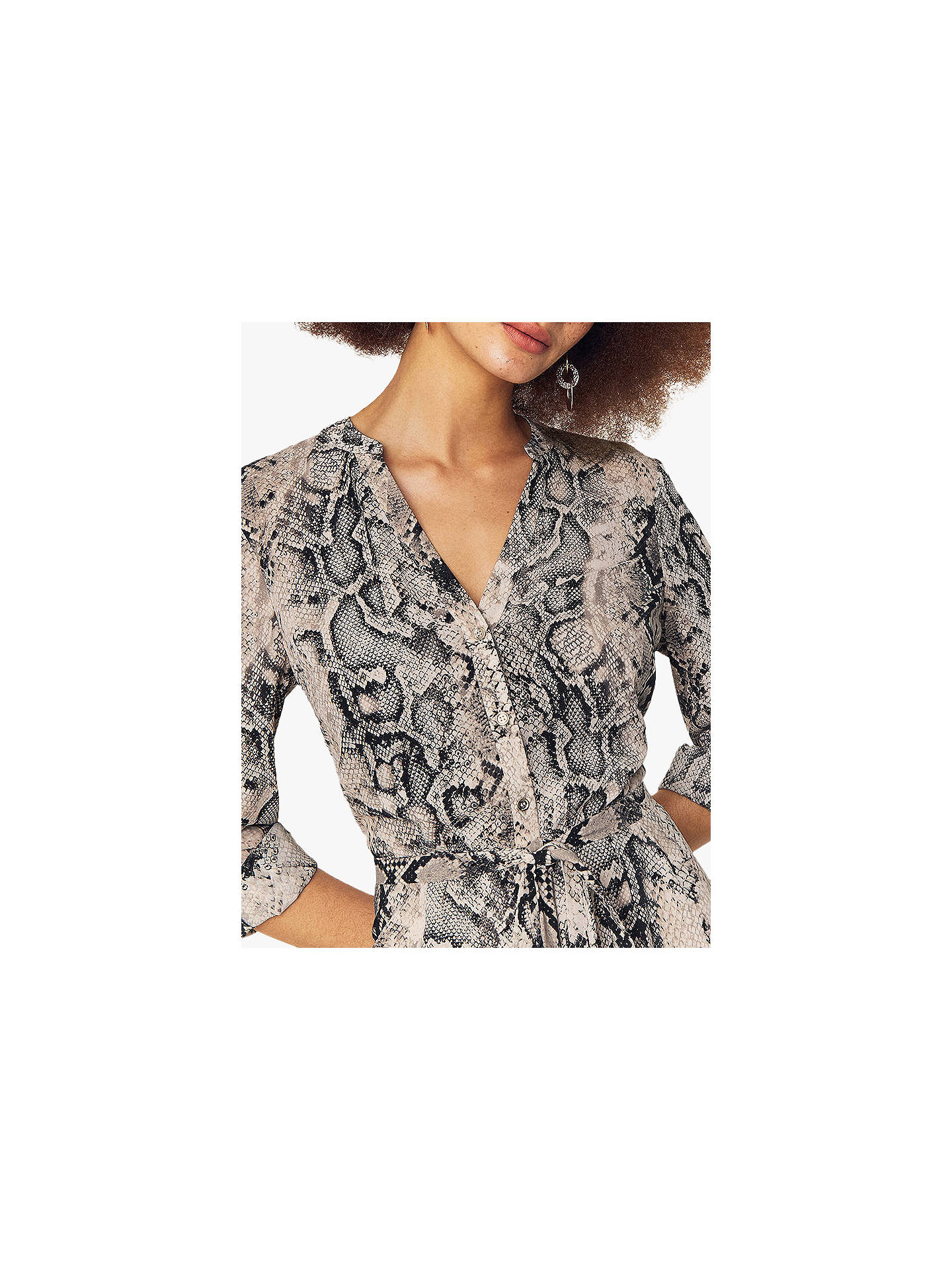 fc95a10f71d7 ... Buy Oasis Snake Print Shirt Dress, Brown, 6R Online at johnlewis.com