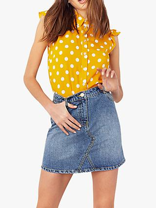 Oasis Denim Mini Skirt