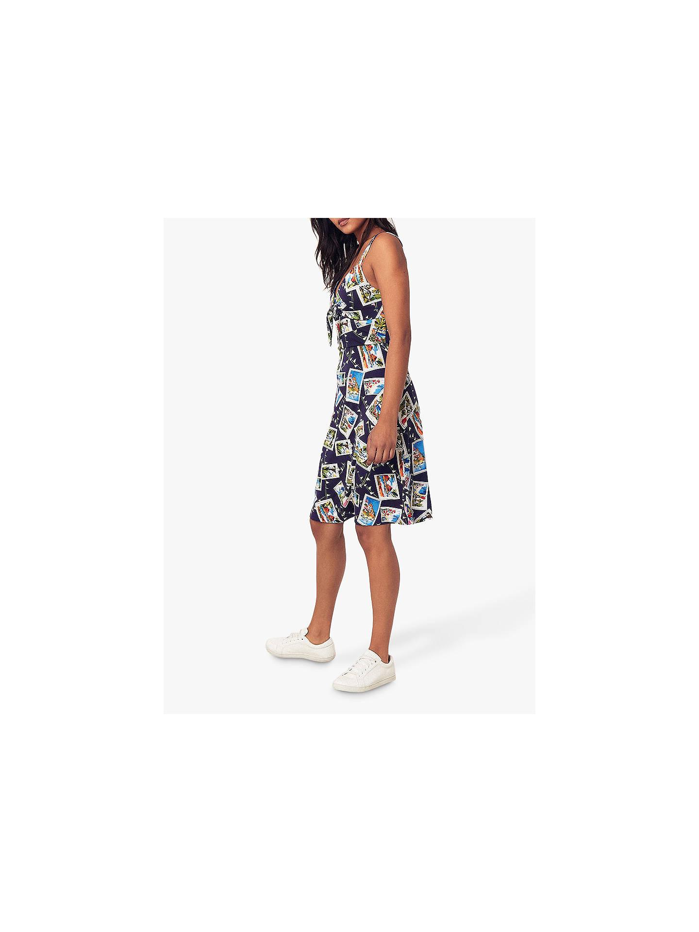 21be76a501da ... Buy Oasis Postcard Print Dress, Multi, XS Online at johnlewis.com ...