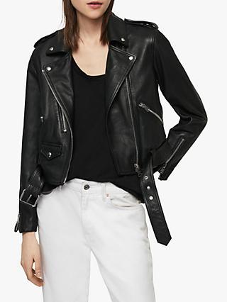 7ef107ddc351db Women's Leather Jackets | Outerwear | John Lewis & Partners