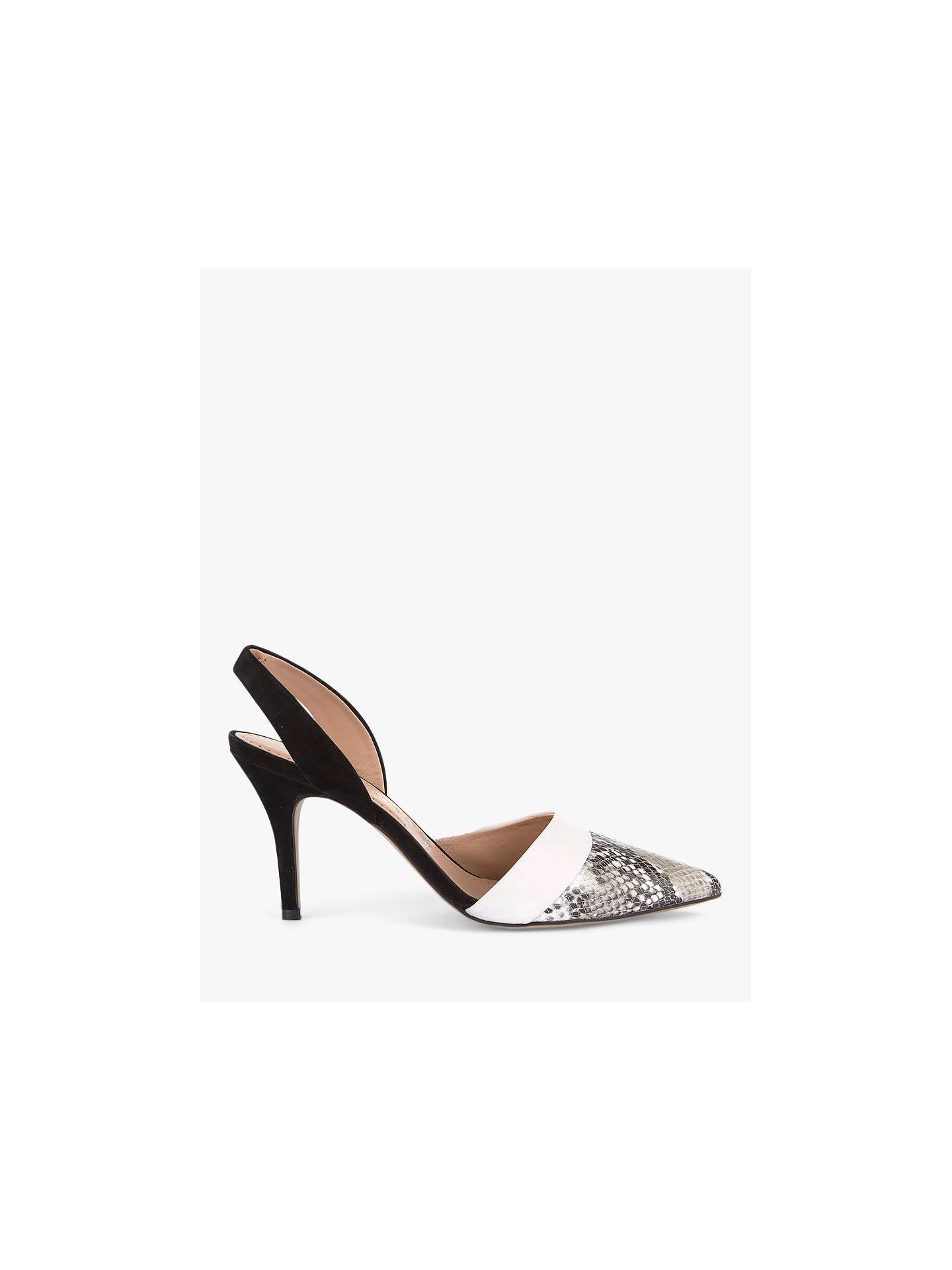 9d0038940 Buy Mint Velvet Emmie Snake Sling Back Court Shoes, Black, 7 Online at  johnlewis ...