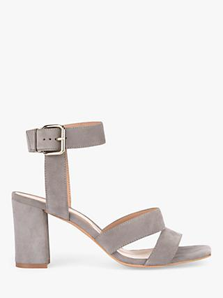 Mint Velvet Naomi Suede Strappy Heeled Sandals, Light Grey