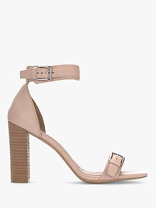 Mint Velvet Stella High Block Heel Leather Sandals