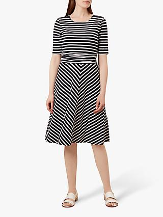 Hobbs Bayview Dress, Navy/White