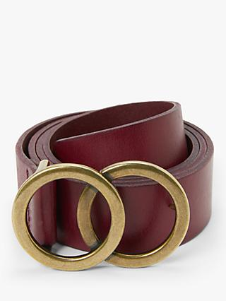 John Lewis & Partners Olivia Double O Ring Buckle Leather Belt