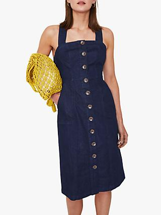 762231cc91b Warehouse Cross Back Denim Dress