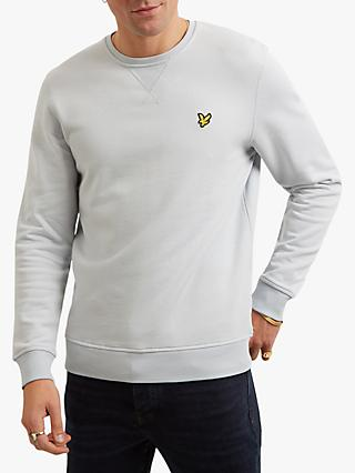 Lyle & Scott Cotton Sweatshirt, Light Silver