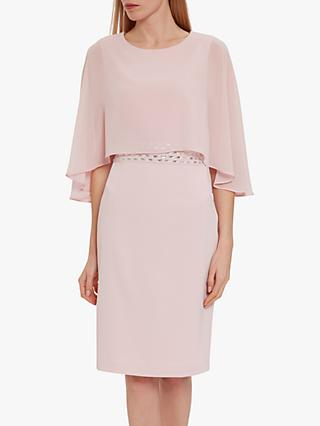 Gina Bacconi Vickie Moss Crepe Dress and Chiffon Cape