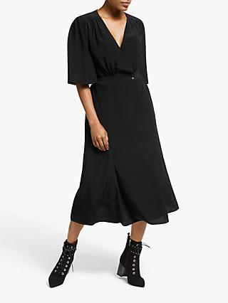 Somerset by Alice Temperley Wrap Midi Dress, Black