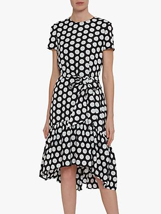 Gina Bacconi Tanna Spot Dress, Black