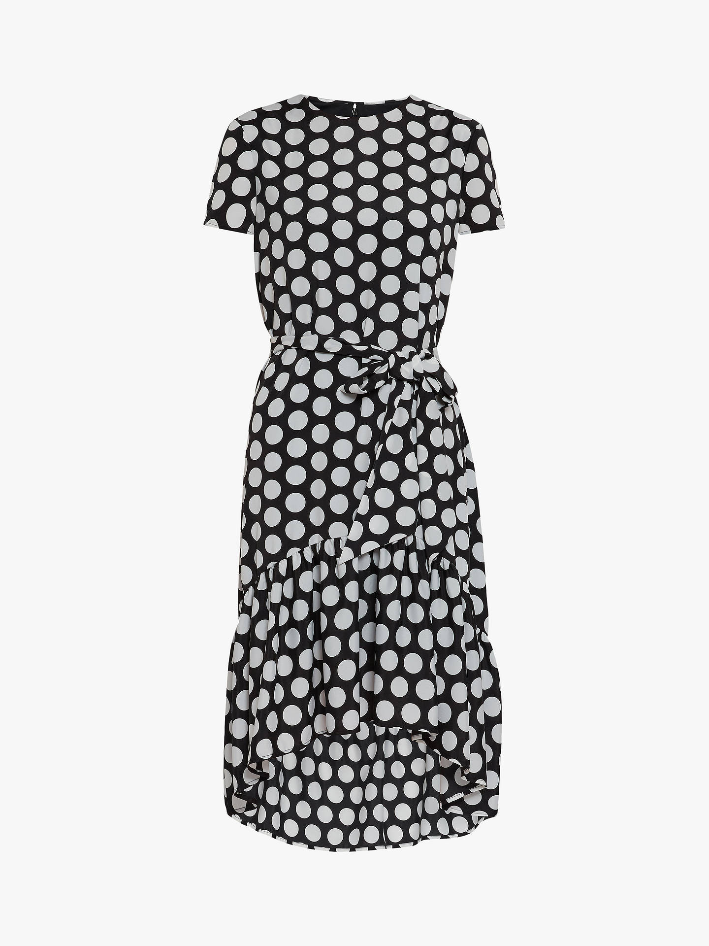 Buy Gina Bacconi Tanna Spot Dress, Black, 8 Online at johnlewis.com