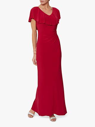 e6827e87cc9 Gina Bacconi Bellina Ruffle Neckline Maxi Dress