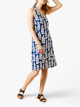 White Stuff Hannah Linen Dress, Cobalt Blue